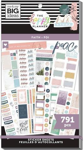 Блокнот со стикерами для ежедневника Value Pack Stickers - Walk By Faith- 791 шт