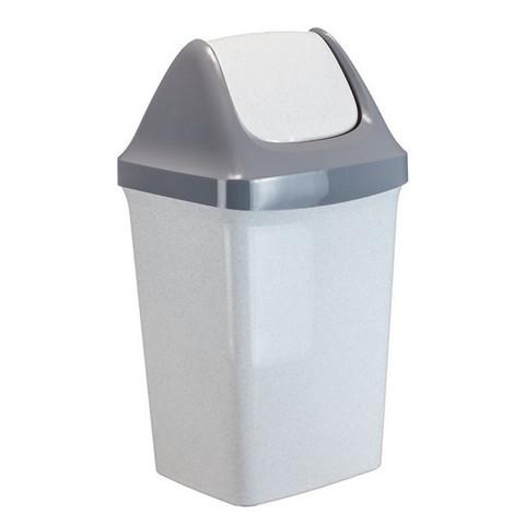 Контейнер для мусора IDEA Свинг 50л мраморный
