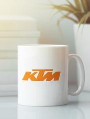 Кружка с рисунком KTM (KTM AG) белая 003