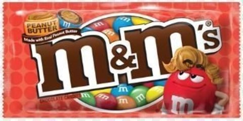 Шоколадное драже M&M's Peanut butter c арахисовым маслом 40.2 гр