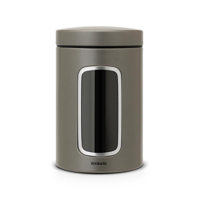 Контейнер для сыпучих продуктов с окном (1,4 л), Платиновый, арт. 288425 - фото 1