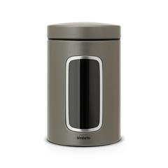 Контейнер для сыпучих продуктов с окном (1,4 л), Платиновый