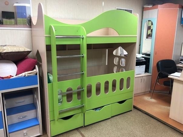 Кровать двухъярусная Домовенок