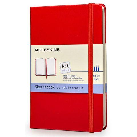 Блокнот для рисования Moleskine CLASSIC Sketchbook ARTQP063R Large 130х210мм 104стр. твердая обложка красный