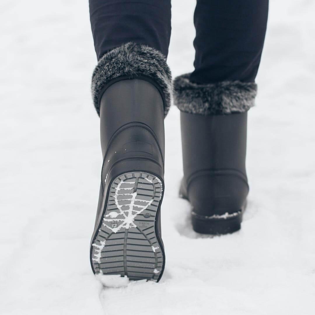 Угги Nordman Frosto Черные с серой опушкой