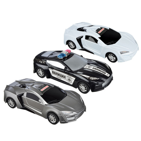 ИГРОЛЕНД Машина седан, инерция, пластик, 3 цвета.