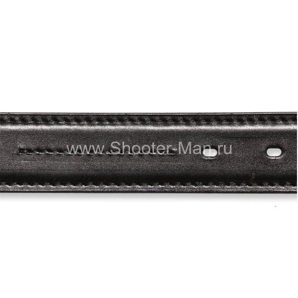 Ремень кожаный, пистолетный усиленный по всей длине ( 35 мм )