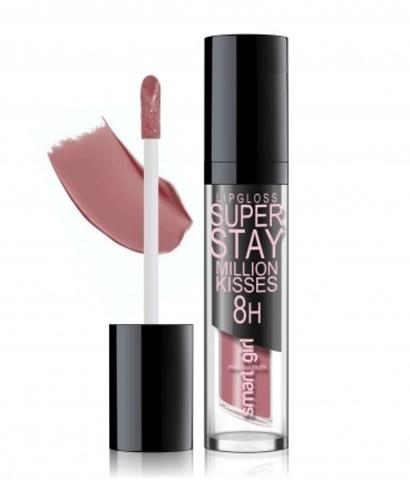 BelorDesign Smart Girl Супер стойкий блеск для губ Million kisses тон 218 клубничный шейк