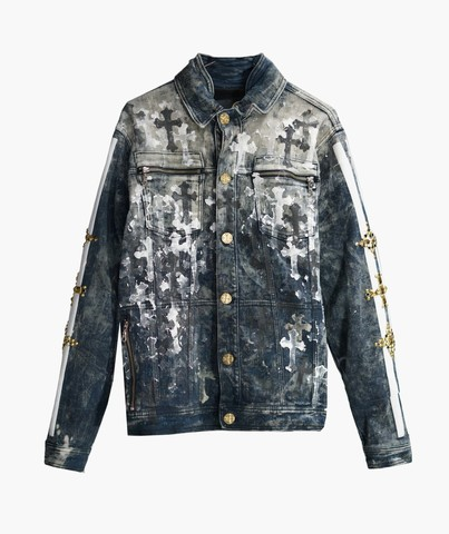 Куртка джинсовая The Saints Sinphony CROSSES JACKET DARK BLUE