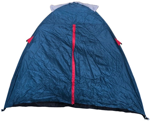 Палатка Canadian Camper KARIBU 4, цвет royal, вход 2 в закрытом состоянии.