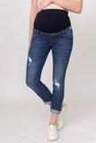 Джинсы для беременных (SLIM) 03971 синий