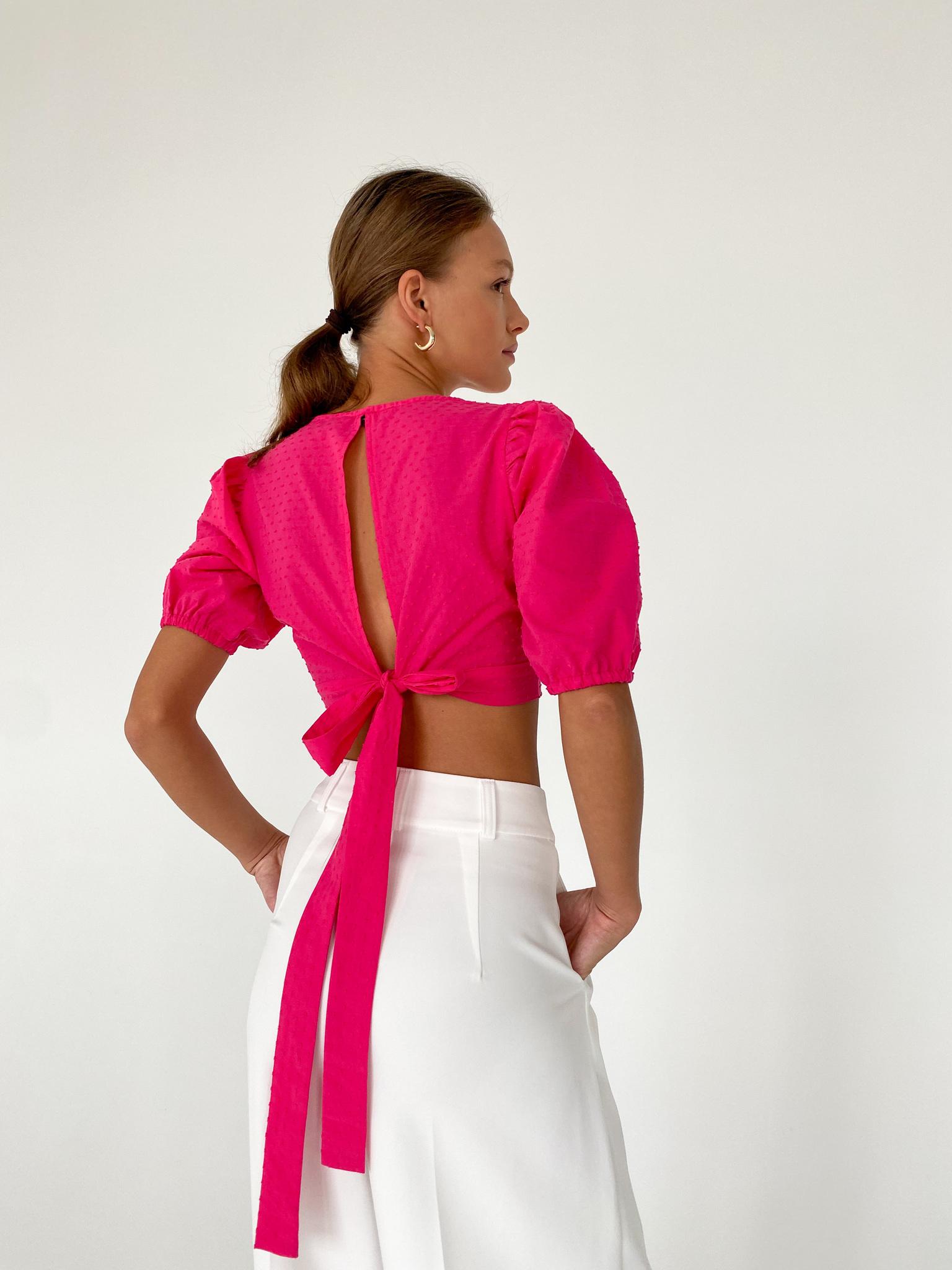 Блуза с завязками на спине (фуксия)
