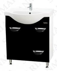 Тумба напольная SanMaria Милан-70, 1 ящик, корзина, черная