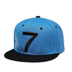 Кепка Криштиану Роналду голубая (Бейсболка CR7)