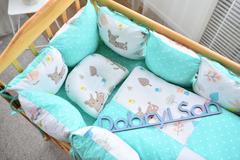Защита в кроватку от комплекта Облачко 12 шт 03-05-01 Унисекс мятный