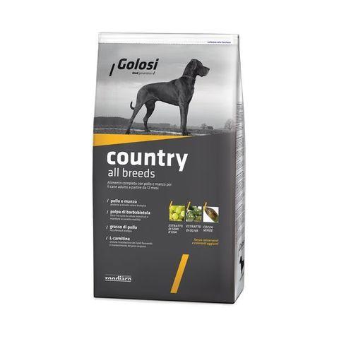Сухой корм GOLOSI COUNTRY ALL BREEDS Сельский рацион для взрослых собак всех пород с курицей и говядиной, 12 кг.