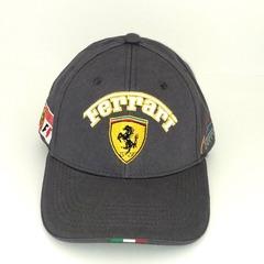 Кепка с вышитым логотипом Феррари (Кепка Ferrari) серая