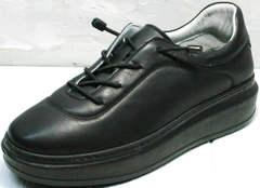Черные женские кроссовки для повседневной жизни Rozen M-520 All Black.