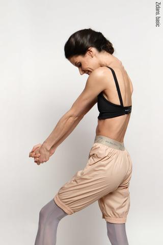 Удлиненные шорты-сауна | бежевый