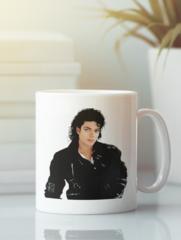 Кружка с изображением Майкла  Джексона (Michael Jackson) белая 001