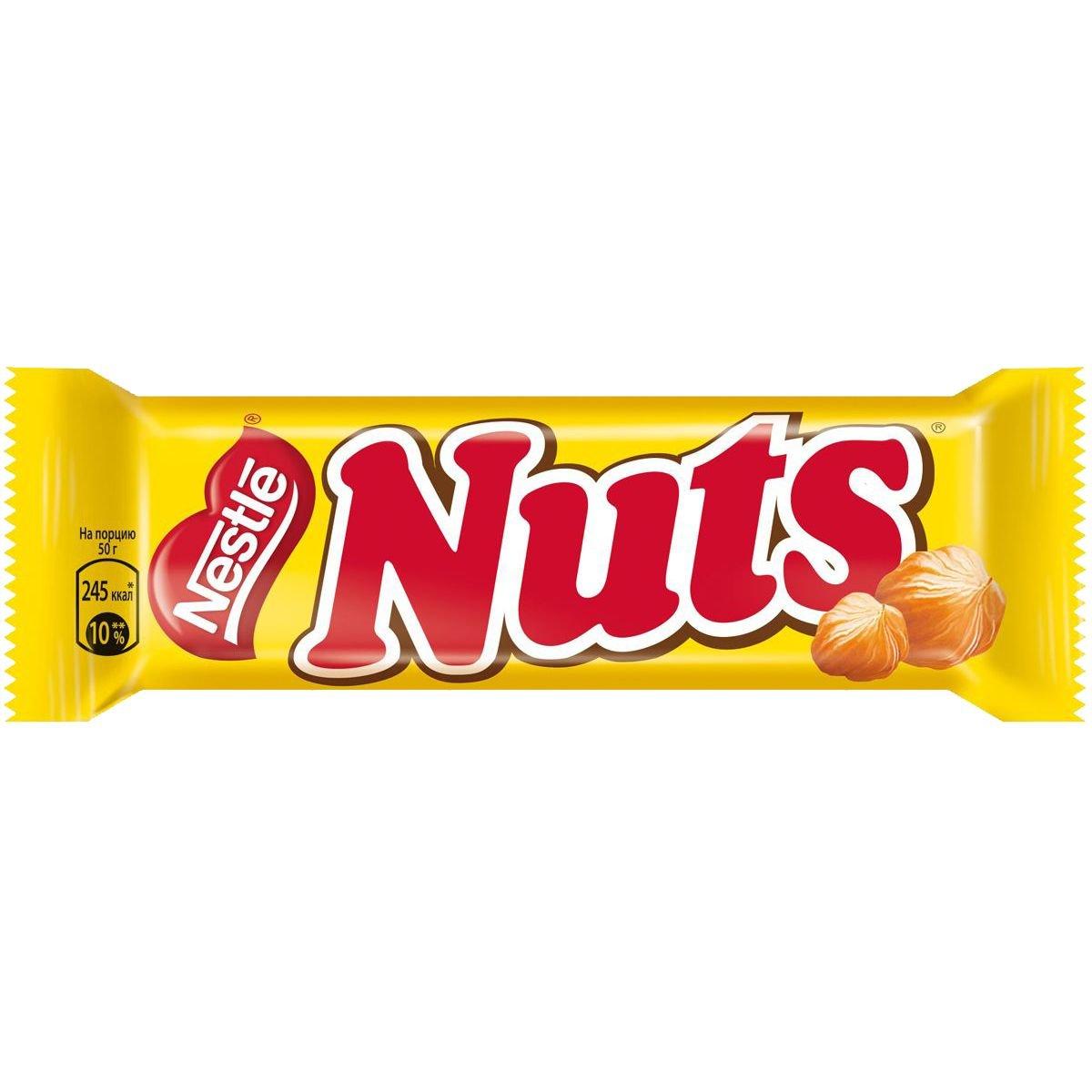 NUTS шоколадный батончик Оригинал 50г