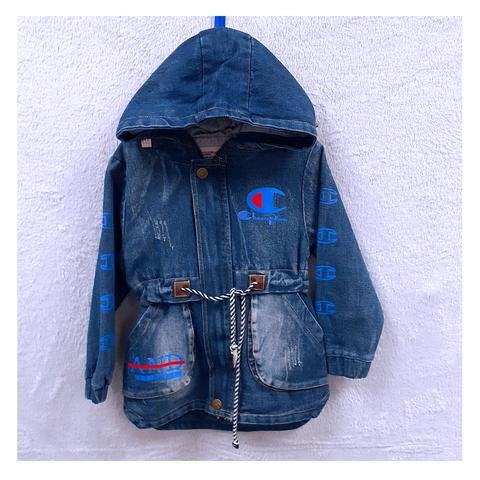 Парка джинсовая девочке (5-7) 201204-ТР7740
