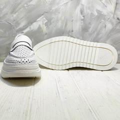 Белые кроссовки лоферы на толстой подошве Derem 372-17 All White.