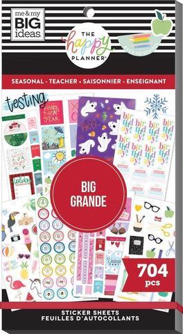 Блокнот со стикерами для ежедневника Value Pack Stickers - Seasonal Teacher - BIG -704шт
