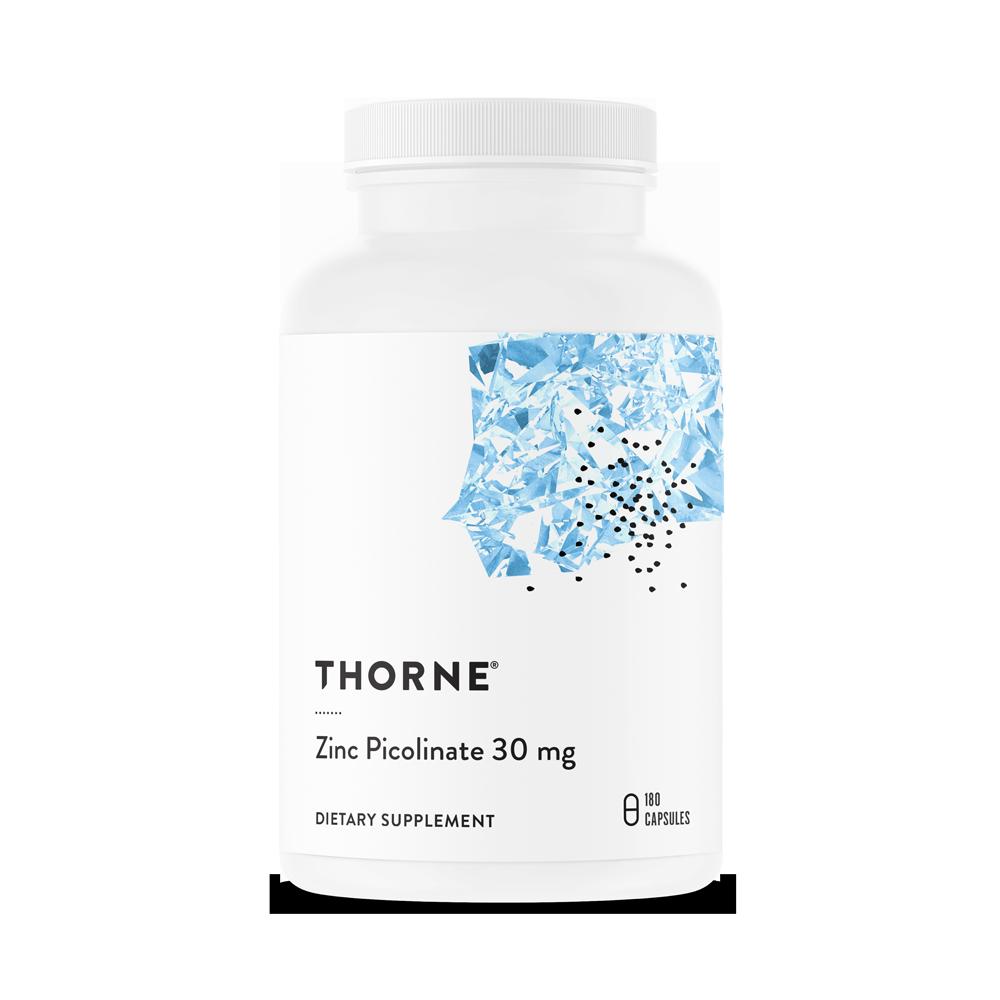Пиколинат цинка 30 мг,  Zinc Picolinate, Thorne Research, (180 капсул)