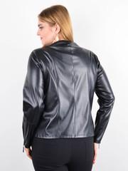 Габи. Стильная весенняя куртка плюс сайз. Черный.