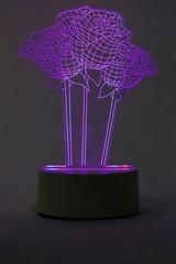 Светильники 3D Розы 3 шт