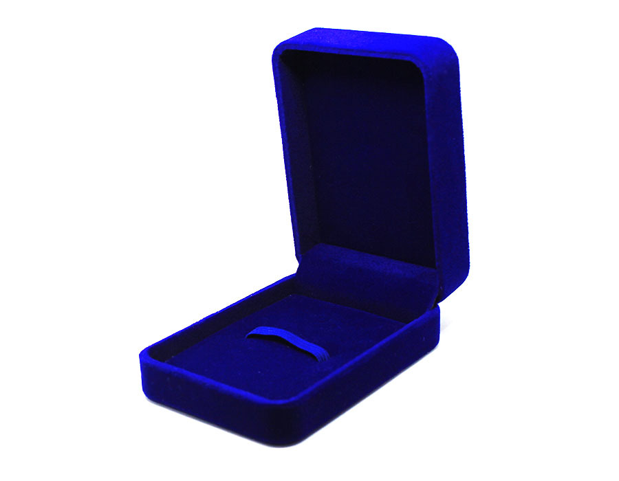 коробка бархатная синяя big