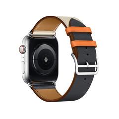 Ремешок кожаный COTEetCI W36 Fashoin Leather (WH5260-44-ICO) для Apple Watch 44мм/ 42мм (short) Синий-Бежевый