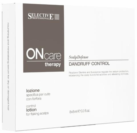Специальный лосьон от перхоти,Selective Oncare Rebalance, 8шт х 8мл
