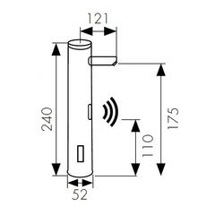 Сенсорный смеситель KAISER Sensor 38521 для раковины схема