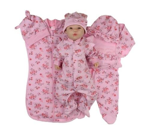 Набор одежды для новорожденной девочки в роддом Розы розовый