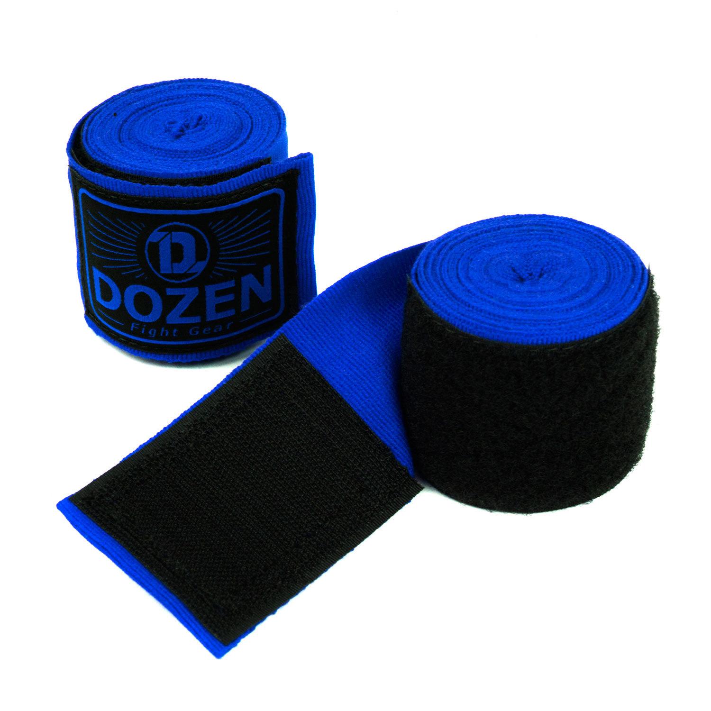Бинты Dozen Monochrome Semi-elastic Total Blue вид липучка
