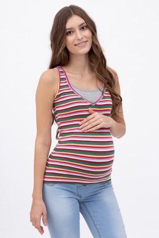 Майка для беременных и кормящих 08564 серый
