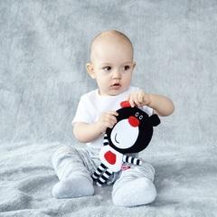 Игрушка мягкая комфортер Hencz Toys Мишка Бу бирюзовый