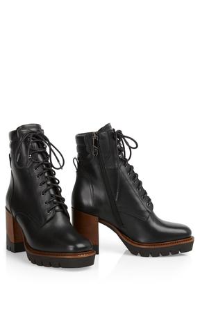 Marc Cain Ботинки кожаные на молнии, шнуровке, на устойчивом каблуке