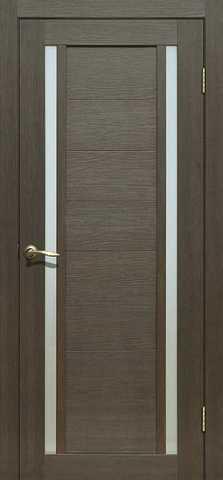 Дверь La Stella 203, стекло матовое, цвет ясень грей, остекленная