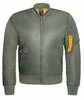 Куртка Бомбер - B-17 Apolloget (олива - s.green/orange)