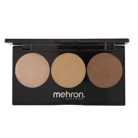 Mehron Палитра хайлайтеров Highlight-Pro 3 Color Palette-Warm