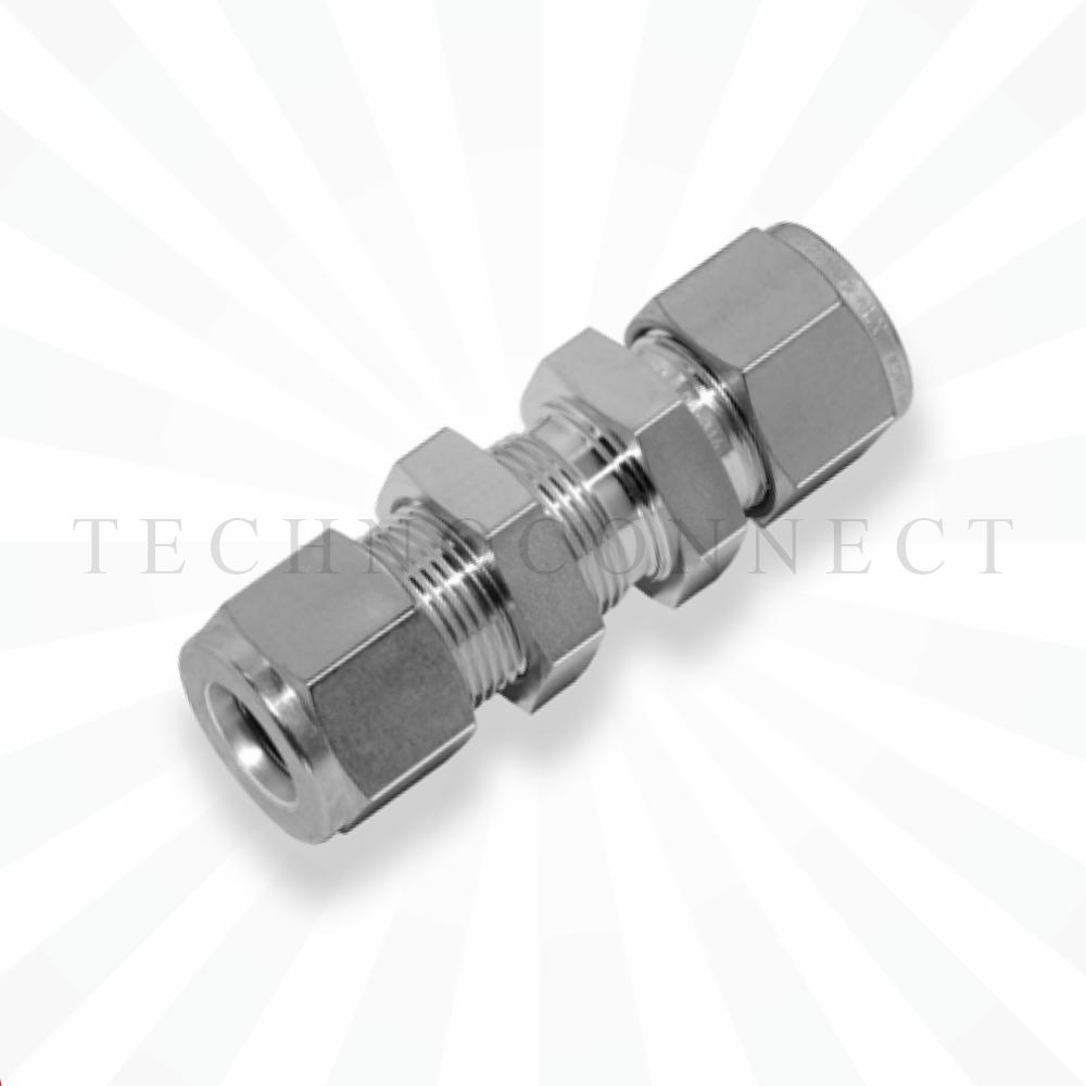 CBU-6M  Соединитель панельного монтажа: метрическая трубка  6 мм - метрическая трубка   6 мм
