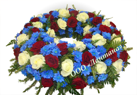 Венок из живых цветов заказной ВЖ-20
