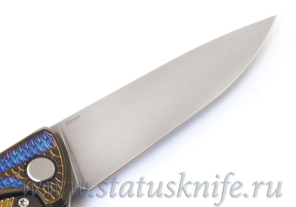 Нож Широгоров Флиппер 95 Горыныч Elmax Фиолет - фотография