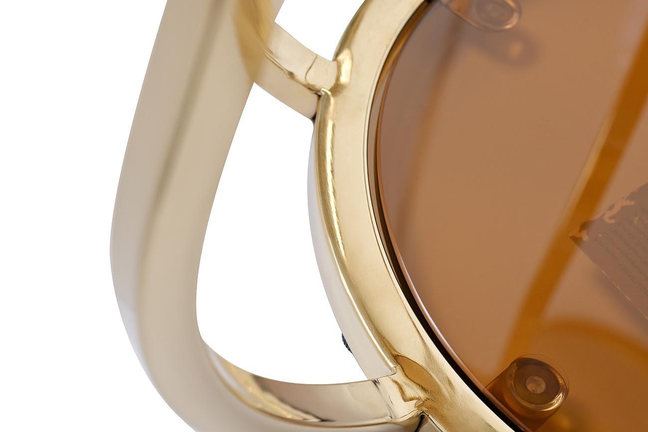 13RXET4036-GOLD Стол журнальный стекло коричн./золото d50*60см