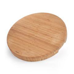 Доска разделочная 43x43x5см круглая (бамбук)