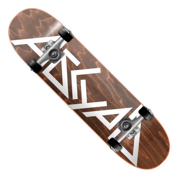 Скейтборд АБСУРД Logo (Brown)