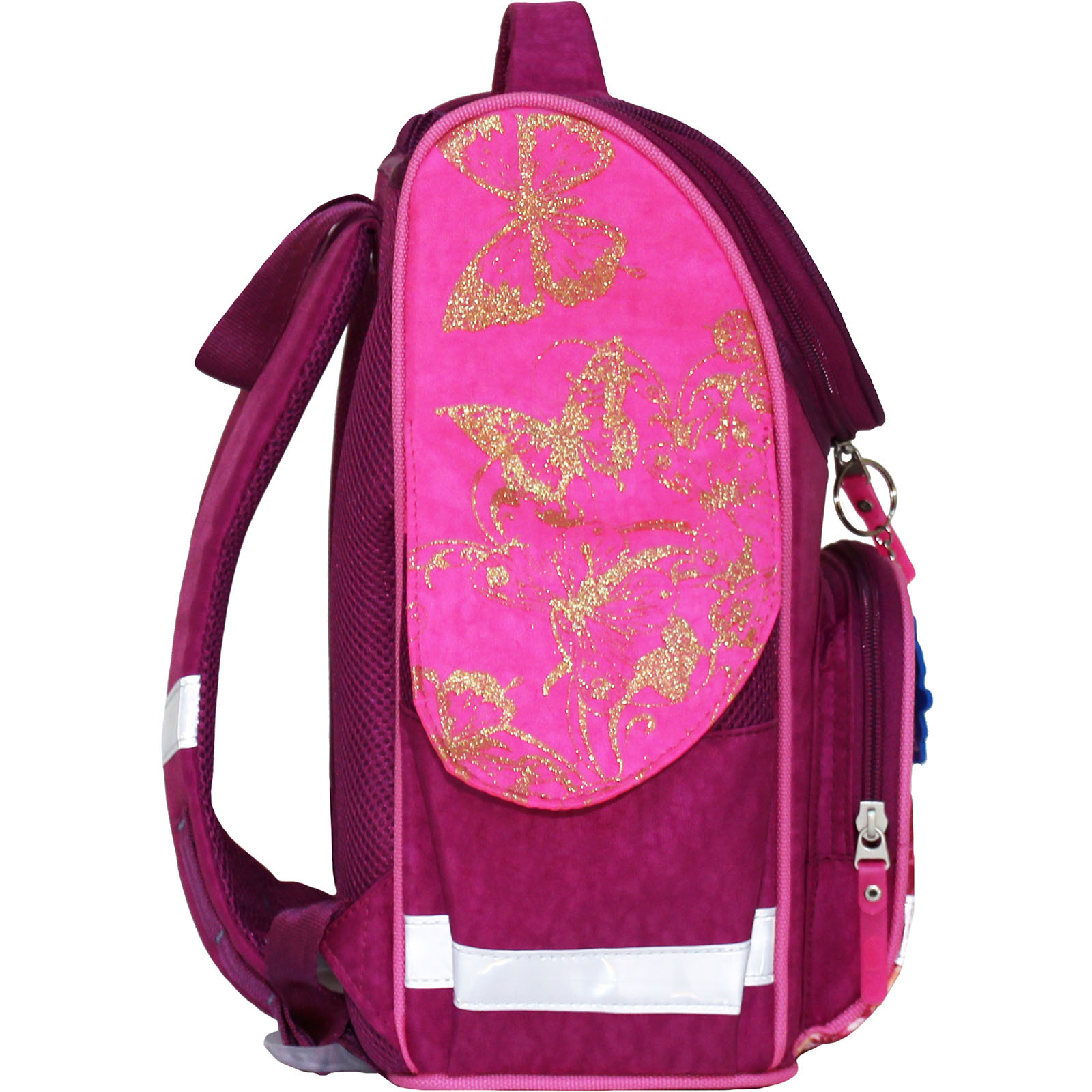 Рюкзак школьный каркасный с фонариками Bagland Успех 12 л. малиновый 389 (00551703)